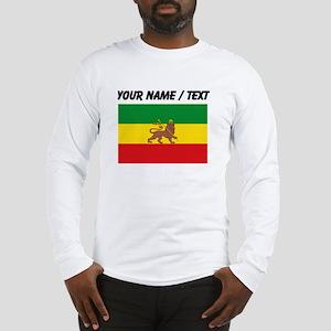 Custom Ethiopian Flag Long Sleeve T-Shirt