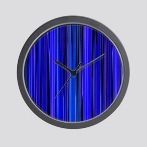 Blue Stripes Wall Clock