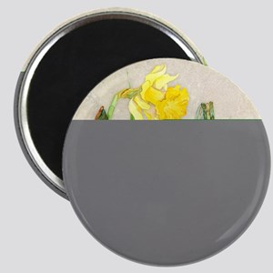 Daffodil Spring Floral Pansy Watering Can D Magnet