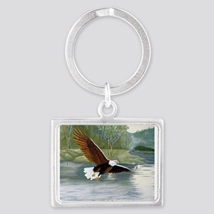 American Bald Eagle Flight Landscape Keychain