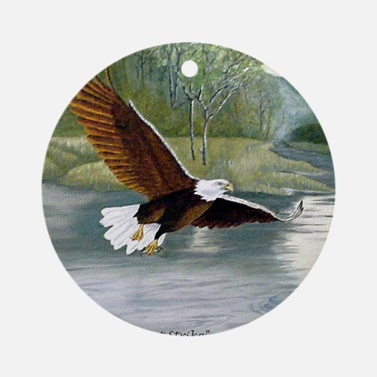 American Bald Eagle Flight Ornament (Round)
