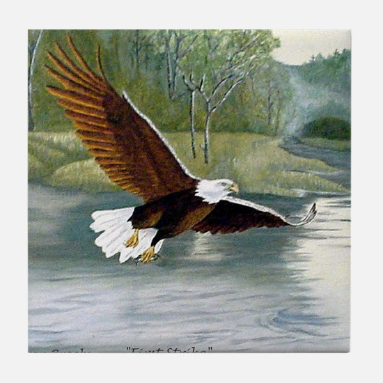 American Bald Eagle Flight Tile Coaster
