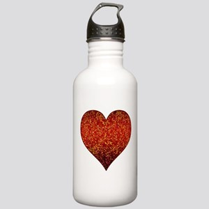 Stainless Water Bottle 1.0L Heart Glitter 4