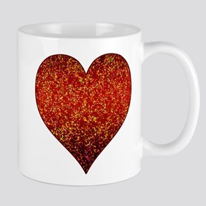 Mug Heart Glitter 4 Mugs