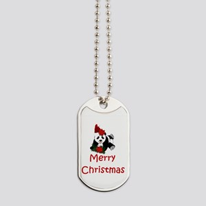 merry christmas panda Dog Tags