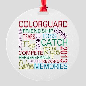 Colorguard Holiday / Christmas Ornament