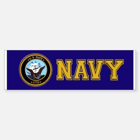Navy Bumper Bumper Bumper Sticker