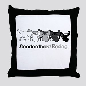 Racing Silhouette Throw Pillow