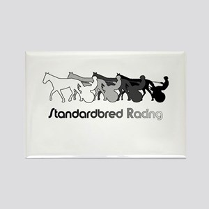 Racing Silhouette Rectangle Magnet