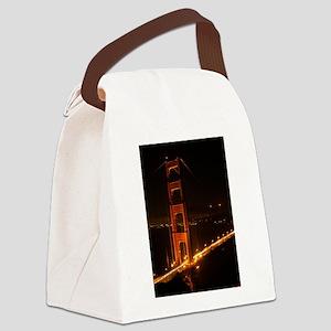 Golden Gate Bridge North Tower Canvas Lunch Bag