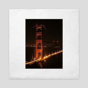 Golden Gate Bridge North Tower Queen Duvet