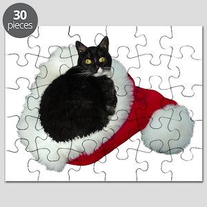 Cat Santa Hat Puzzle