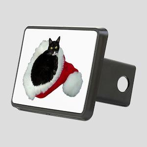 Cat Santa Hat Rectangular Hitch Cover