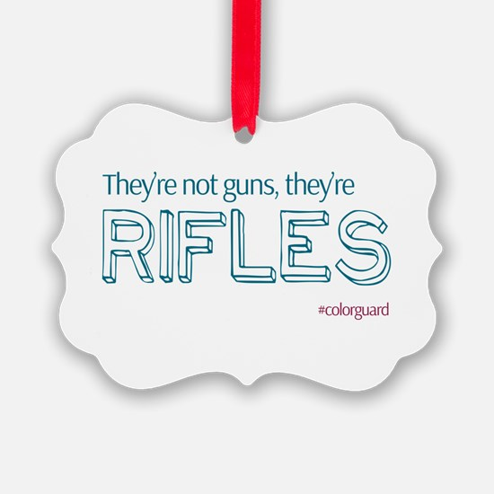 Color Guard Rifles Ornament