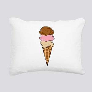 Three Scoop Ice Cream Cone Rectangular Canvas Pill