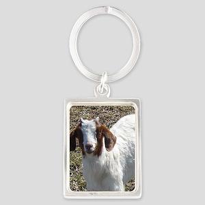 Boer Goat Kid Portrait Keychain