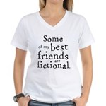 Fictional Friends Women's V-Neck T-Shirt
