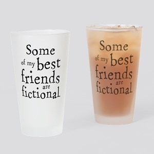 Fictional Friends Drinking Glass