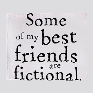 Fictional Friends Throw Blanket