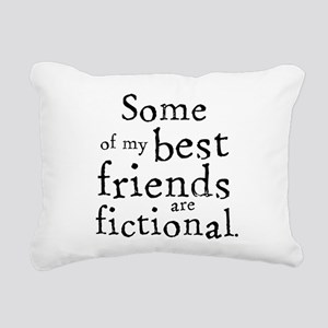 Fictional Friends Rectangular Canvas Pillow
