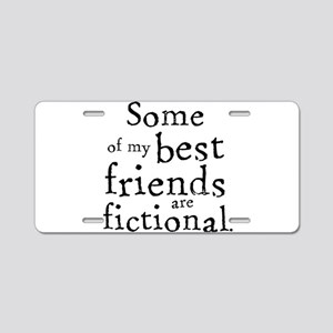 Fictional Friends Aluminum License Plate