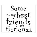 Fictional Friends Small Poster