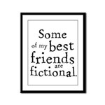 Fictional Friends Framed Panel Print