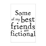 Fictional Friends Mini Poster Print