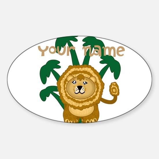 Editable Cute Lion Decal
