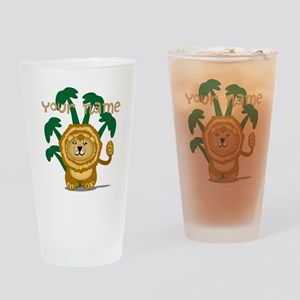 Editable Cute Lion Drinking Glass