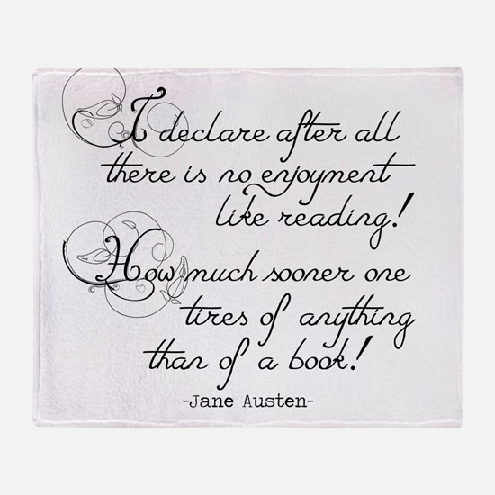 No Enjoyment Like Reading Throw Blanket