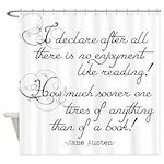 No Enjoyment Like Reading Shower Curtain