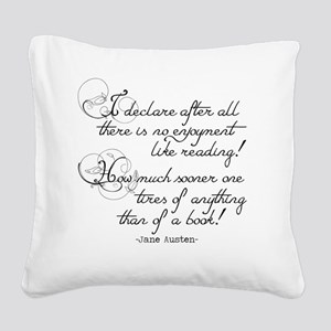 No Enjoyment Like Reading Square Canvas Pillow