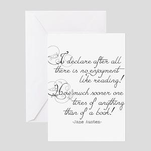 No Enjoyment Like Reading Greeting Card