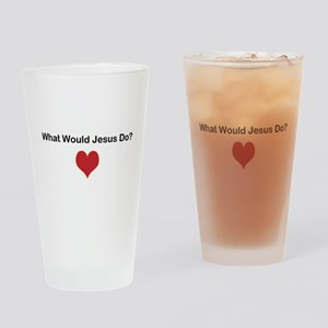 What Would Jesus Do? Drinking Glass