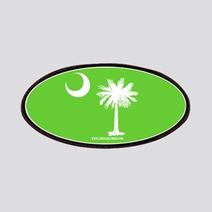 SC Palmetto Moon State Flag Green Patches