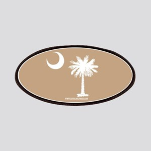 SC Palmetto Moon State Flag Tan Patches
