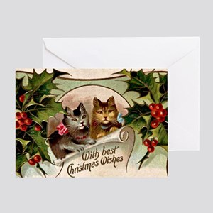 Vintage Christmas - With Best Christ Greeting Card