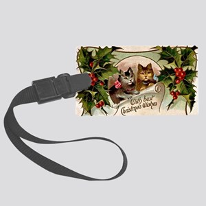 Vintage Christmas - With Best Ch Large Luggage Tag
