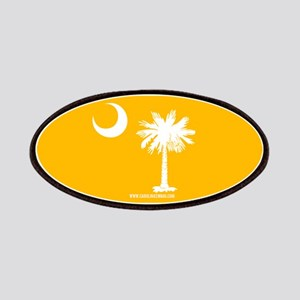 SC Palmetto Moon State Flag Gold Patches