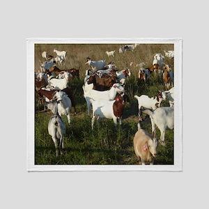 Boer Goat Herd Throw Blanket