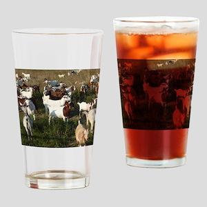 Boer Goat Herd Drinking Glass