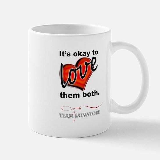 TVD - OK 2 Love Them Both *Team Salvatore* Mugs