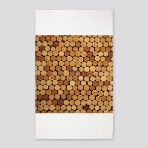 Wine Corks 6 3'x5' Area Rug