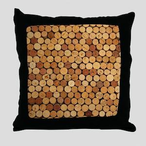 Wine Corks 6 Throw Pillow