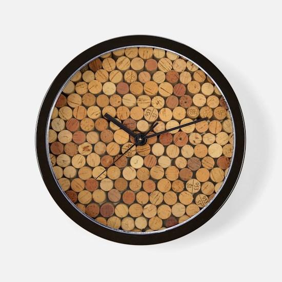 Wine Corks 6 Wall Clock