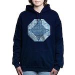Celtic Diamond Aqua Hooded Sweatshirt