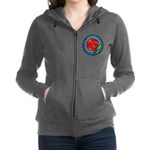Celtic Rose Stained Glass Zip Hoodie