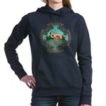 Celtic Flamingo Art Hooded Sweatshirt