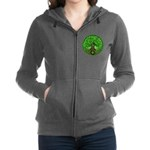 Circle Celtic Tree of Life Zip Hoodie